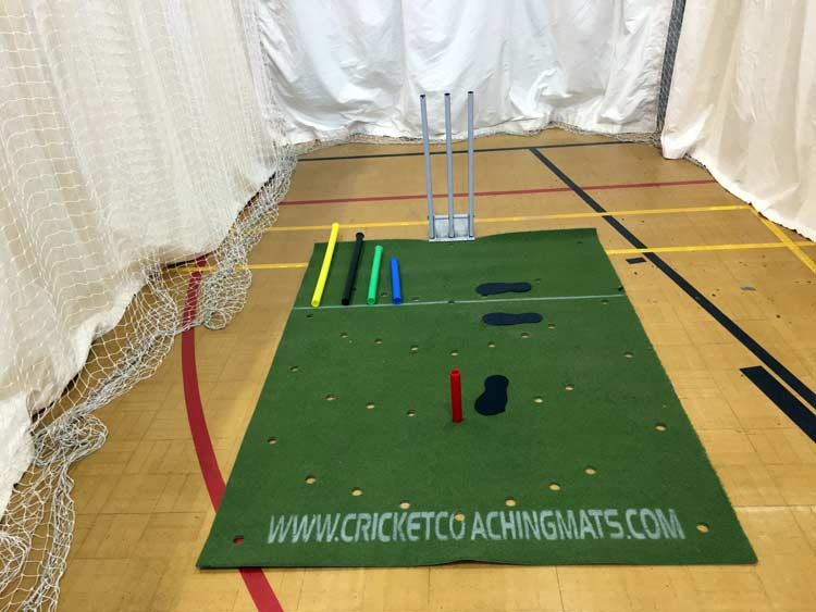 What do you get with the cricket batting, Training coaching mat
