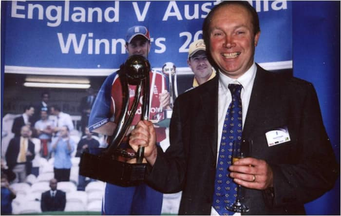 David Cooper, inventor of the worlds best cricket coaching, batting practice mat